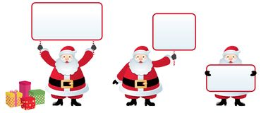 Santa Claus with a Christmas message Royalty Free Stock Photo