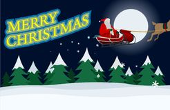 Santa Claus with Christmas message Royalty Free Stock Images