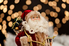 Santa Claus in the Christmas night Royalty Free Stock Photo