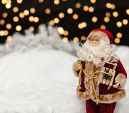 Santa Claus in the Christmas night Royalty Free Stock Photos