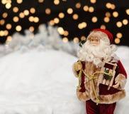 Santa Claus in the Christmas night Royalty Free Stock Photos