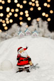 Santa Claus in the Christmas night Stock Photos