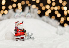 Santa Claus in the Christmas night Stock Photo