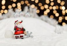 Santa Claus in the Christmas night Stock Photo