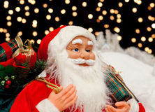Santa Claus in the Christmas night Stock Photography