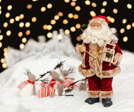 Santa Claus in the Christmas night Stock Images