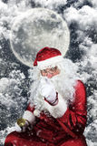 Santa Claus in the Christmas Night Stock Image