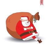 Santa Claus Christmas också vektor för coreldrawillustration Royaltyfri Fotografi