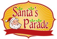 Santa Claus Christmas Parade Retro Stock Image