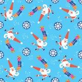 Santa Claus Christmas pattern Royalty Free Stock Photo