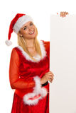 Santa Claus Christmas Plate for wishes Royalty Free Stock Image