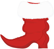 Santa Claus Christmas Pointed Boot Stock Images