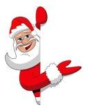 Santa Claus Christmas Presenting Billboard Sign stock image