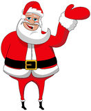 Santa Claus Christmas Presenting Isolated Stock Images