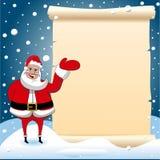 Santa Claus Christmas Presenting Parchment Empty Image libre de droits