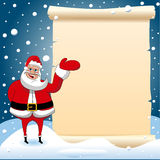 Santa Claus Christmas Presenting Parchment Empty royalty free stock image