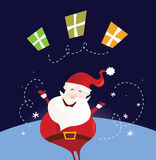 Santa claus with christmas presents Royalty Free Stock Photos