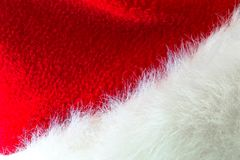 Santa Claus or christmas red hat  on white background.  Royalty Free Stock Image