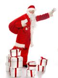 Santa Claus with christmas sack Royalty Free Stock Photo
