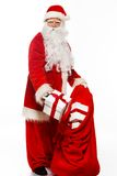 Santa Claus with christmas sack Stock Photography