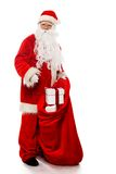 Santa Claus with christmas sack Royalty Free Stock Photography
