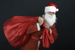 Santa Claus with christmas sack Stock Photos