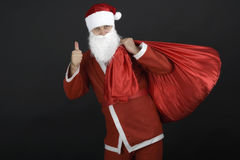 Santa Claus with christmas sack Royalty Free Stock Photos