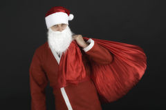 Santa Claus with christmas sack Royalty Free Stock Images