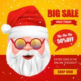 Santa Claus Christmas Sale Poster Royalty-vrije Stock Foto's