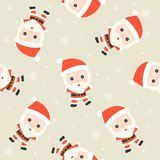 santa claus, christmas seamless pattern theme, for use as wallpaper or wrapping paper gift stock illustration