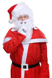 Santa Claus Christmas secret stock photography