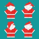 Santa Claus Christmas Set, bonne année, Noël photographie stock