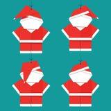 Santa Claus Christmas Set, bonne année, Noël images libres de droits