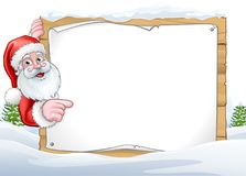 Santa Claus Christmas Sign Background Stock Photo