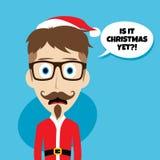Santa claus christmas skinny dad. Theme  illustration Royalty Free Stock Photo