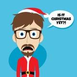 Santa claus christmas skinny dad. Theme  illustration Stock Photo