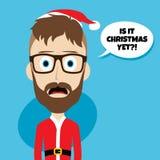 Santa claus christmas skinny dad. Theme  illustration Royalty Free Stock Photos