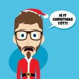 Santa claus christmas skinny dad. Theme  illustration Stock Photos