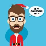 Santa claus christmas skinny dad. Theme  illustration Royalty Free Stock Images