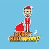 Santa claus christmas skinny dad. Theme  illustration Stock Images