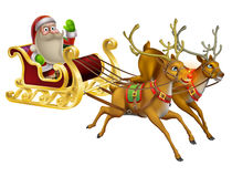 Santa Claus Christmas Sleigh Foto de Stock Royalty Free