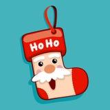 Santa Claus Christmas Socks Royalty Free Stock Photo