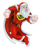 Santa Claus Christmas Superhero Stock Photos
