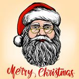 Santa Claus, Christmas symbol hand drawn vector illustration sketch. vector illustration
