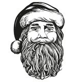 Santa Claus, Christmas symbol hand drawn vector illustration sketch. stock illustration