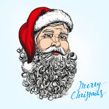 Santa Claus, Christmas symbol hand drawn vector sketch Royalty Free Stock Photo