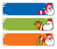 Santa Claus on Christmas tags Stock Photography