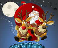Santa-Claus on Christmas time stock illustration