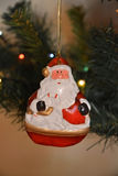 Santa Claus. Christmas toy Santa Claus hanging on the Christmas tree Royalty Free Stock Photo