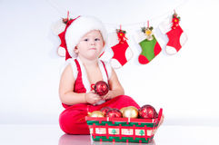 Santa Claus with Christmas toys Stock Image